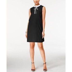 CeCe by Cynthia Steffe Tie Collar Neck Shift Dress